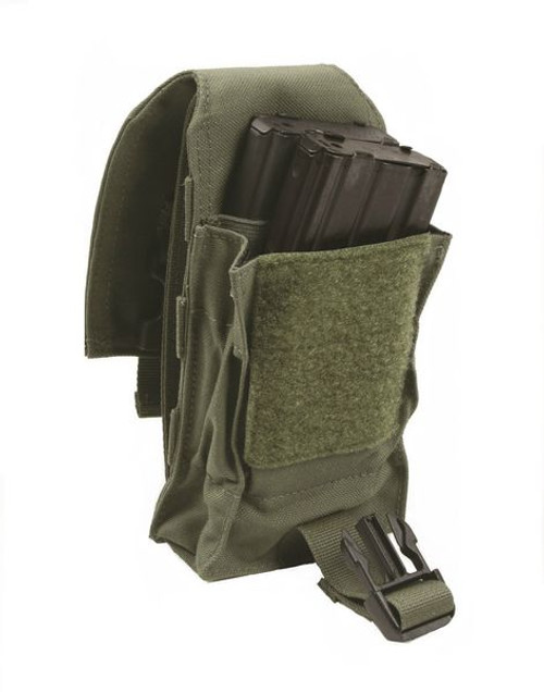 Protech LT4 Double Stack M4 Mag Pouch w/ Molle Attachment