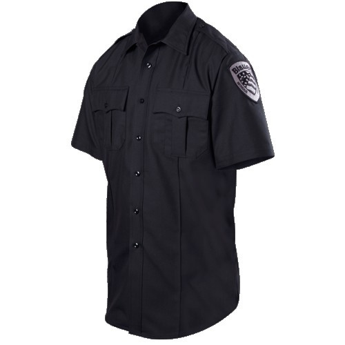 Blauer Wool Blend Short Sleeve Shirt | 8460