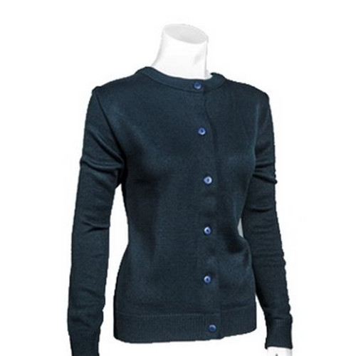 Cobmex 4016 Ladies Crew Neck Long Sleeve Button Front Cardigan