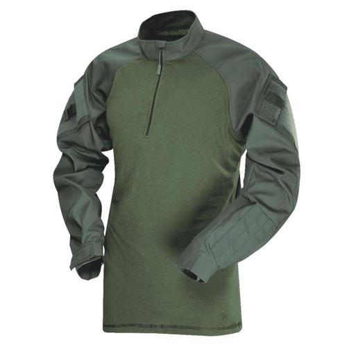 Tru-Spec 2547 1/4 Zip TRU Combat Shirt, Olive Drab