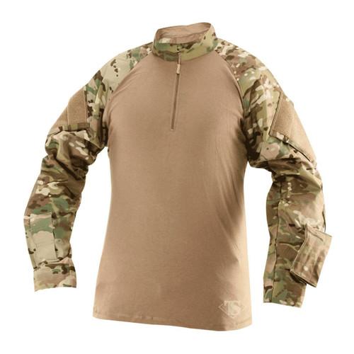 Tru-Spec 2568 1/4 Zip Tactical Response Uniform (TRU) Combat Shirt, MultiCam