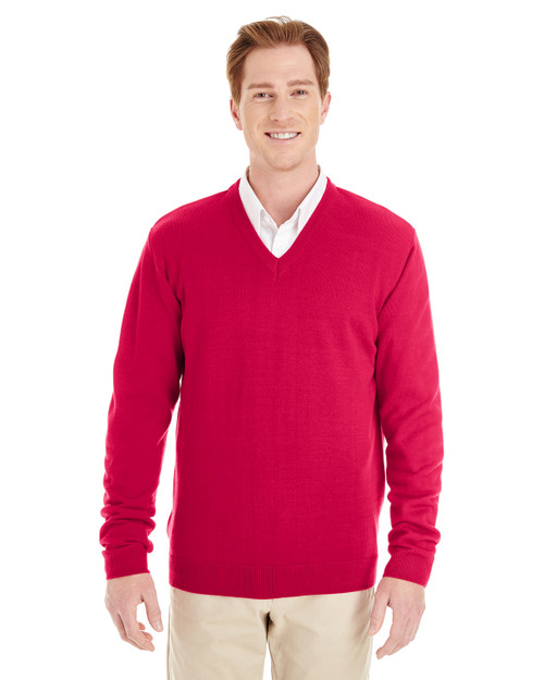 Alpha Broder M420 Harriton Men's Pilbloc V-Neck Sweater