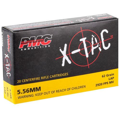 PMC 5.56K X-Tac 5.56x45mm NATO M855 62 Grain Green Tip FMJ Ammo