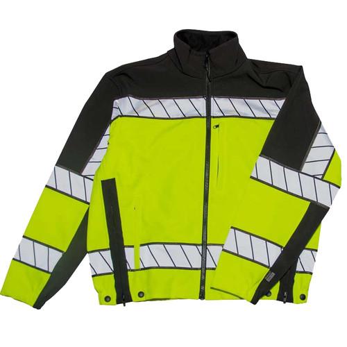 Blauer Softshell Fleece Jacket ANSI II Yellow   4670