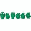 """Set De 6 Budas Color Verde 2"""""""