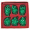 """Set De 6 Budas Color Verde 5"""""""