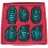 """Set De 6 Budas Color Verde Oscuro 5"""""""