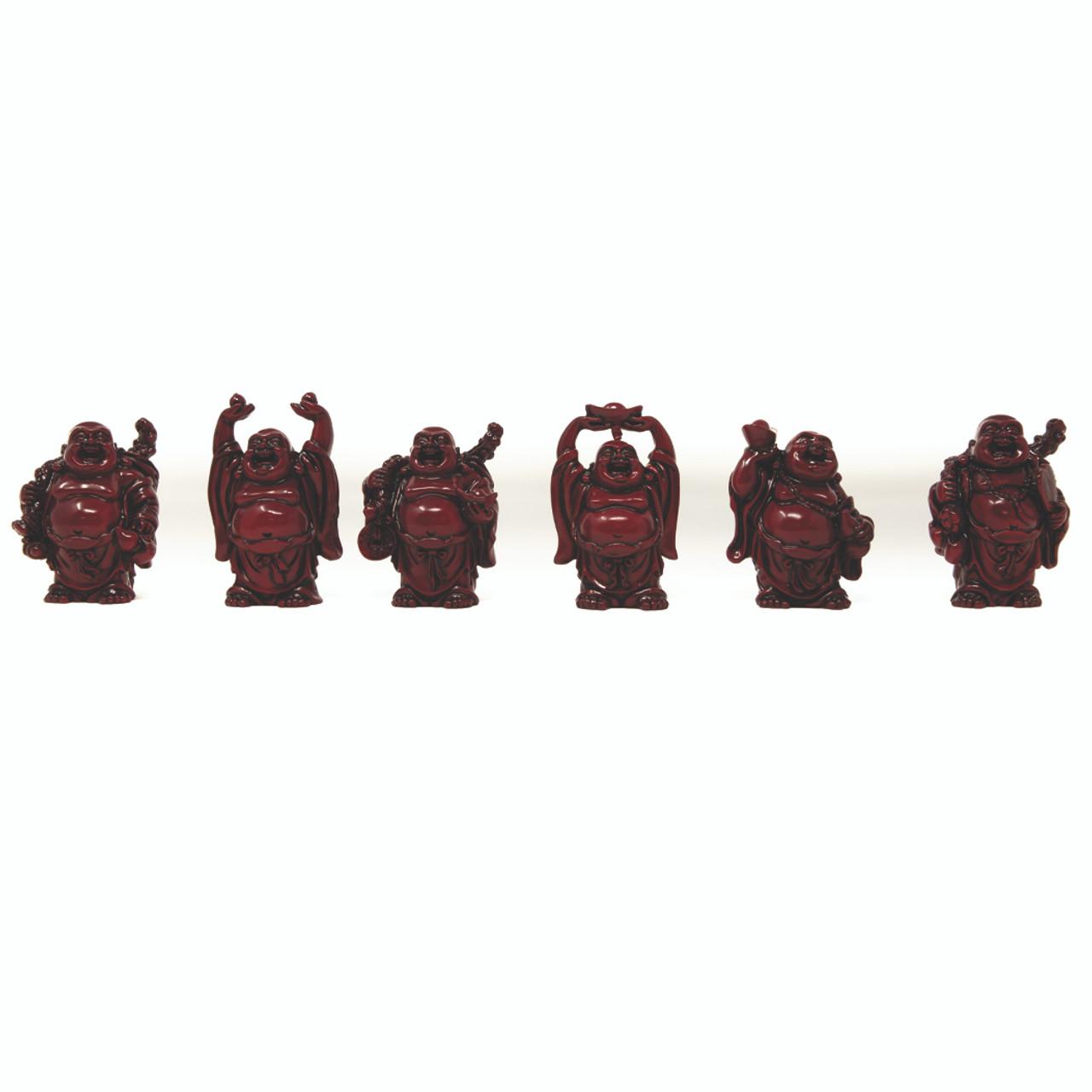 """Set De 6 Budas Color ROJO 2"""""""