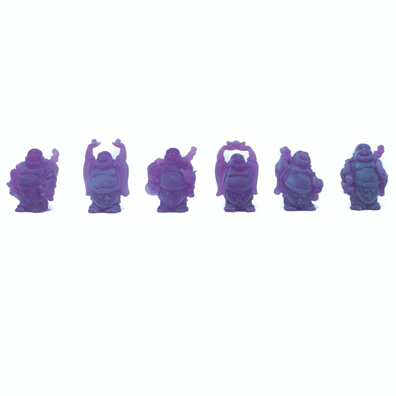 """Set De 6 Budas Color Morado 2"""""""
