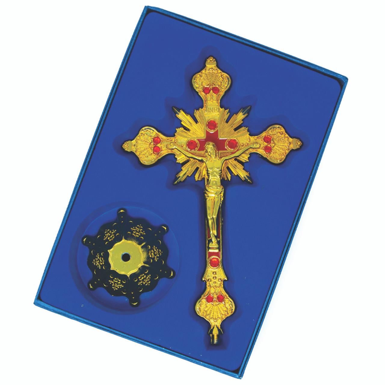 """Cruz Jesus De Nazareth Dorada 10"""""""