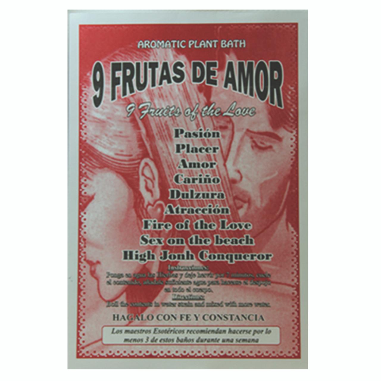 Planta en Sobre 9 Frutos de Amor  (Plant Bath 9 Fruits of Love)