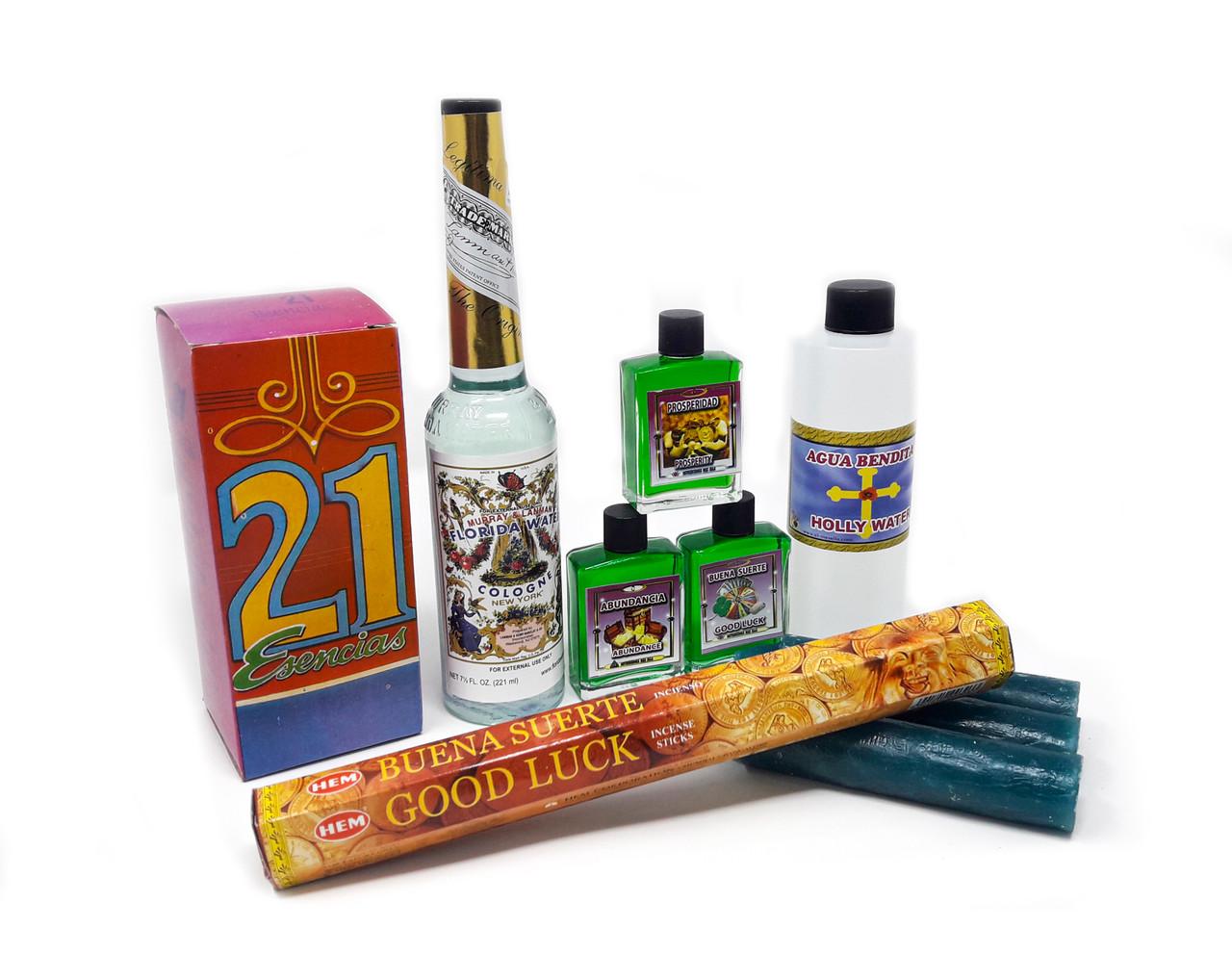 Kit Para Atraer Buena Suerte Y Prosperidad (10 Productos)