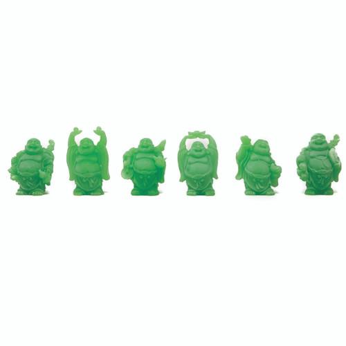 """Set De 6 Budas Color Verde Claro  2"""""""
