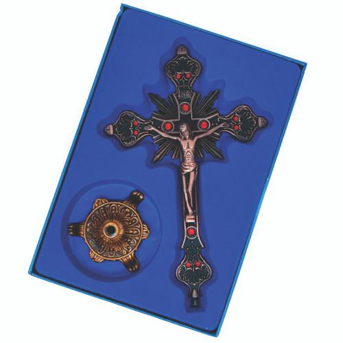 """Cruz Jesus De Nazareth Color Bronce 10"""""""