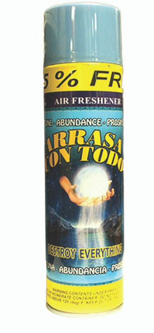 religious and esoteric air freshener o spray para limpias arrasa con todo