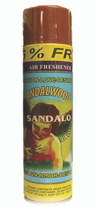 religious and esoteric air freshener o spray para limpias sandalo