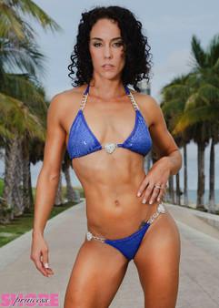 Blue Sequin Chain and Hearts Bikini