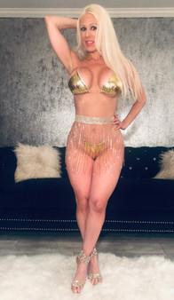 Gold rhinestone skirt