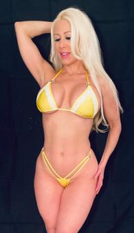 Yellow lycra thong