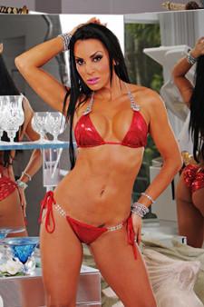Red and Silver Metallic Princessa Bikini