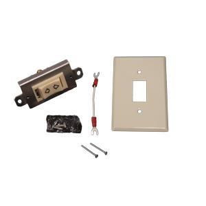 Momentary Rocker Switch Kit Standard Plate White 1800345 Ivory 1800344