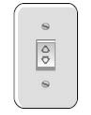 Rocker Switch Kit with Princess Plate Momentary,Ivory1800329