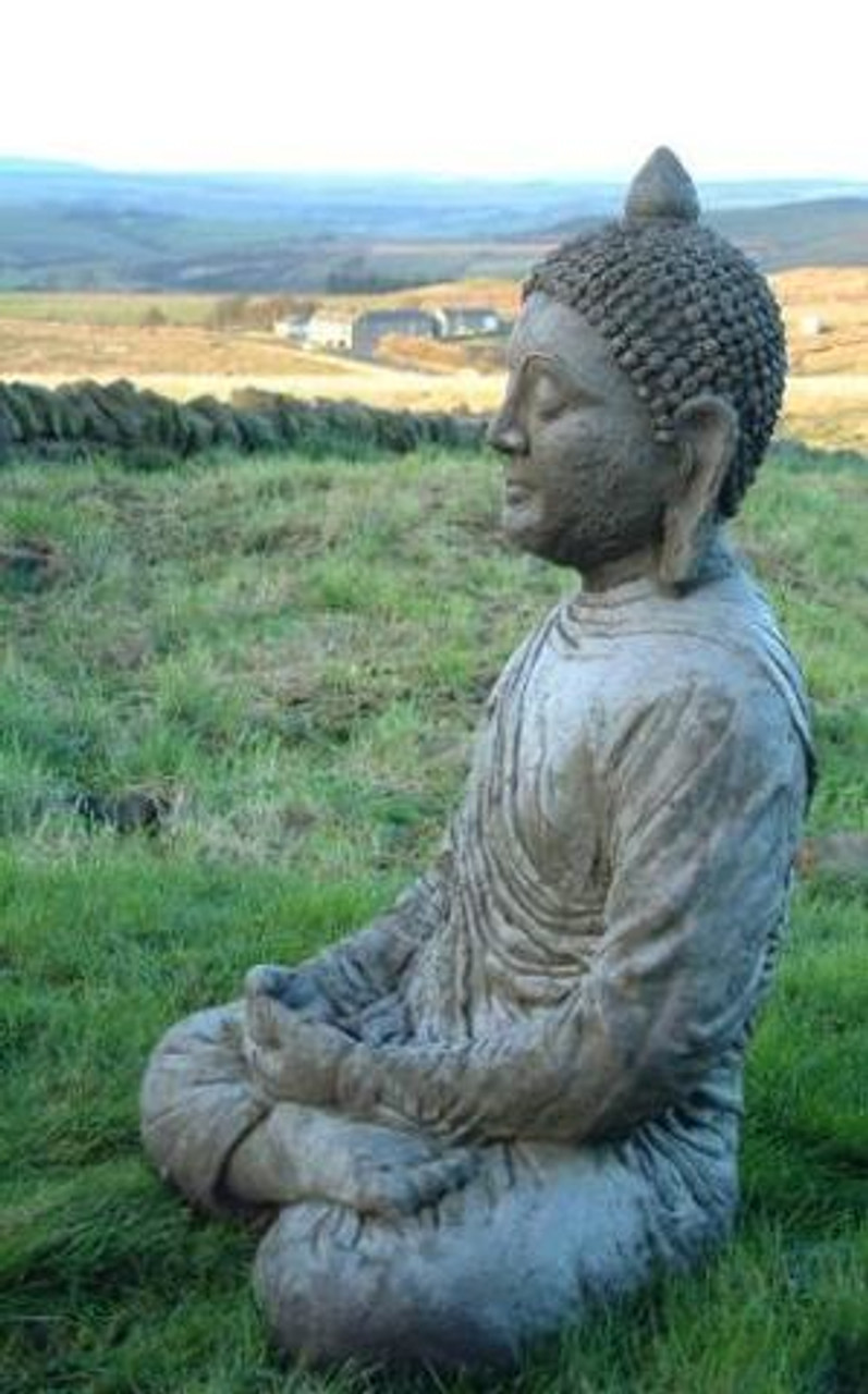Stone Cast Buddha Garden Statue
