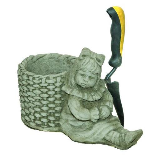 Girl & Basket Plant Pot