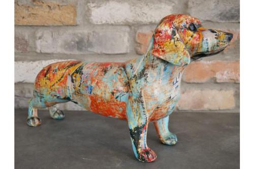 Graffiti Sausage Dog Ornament