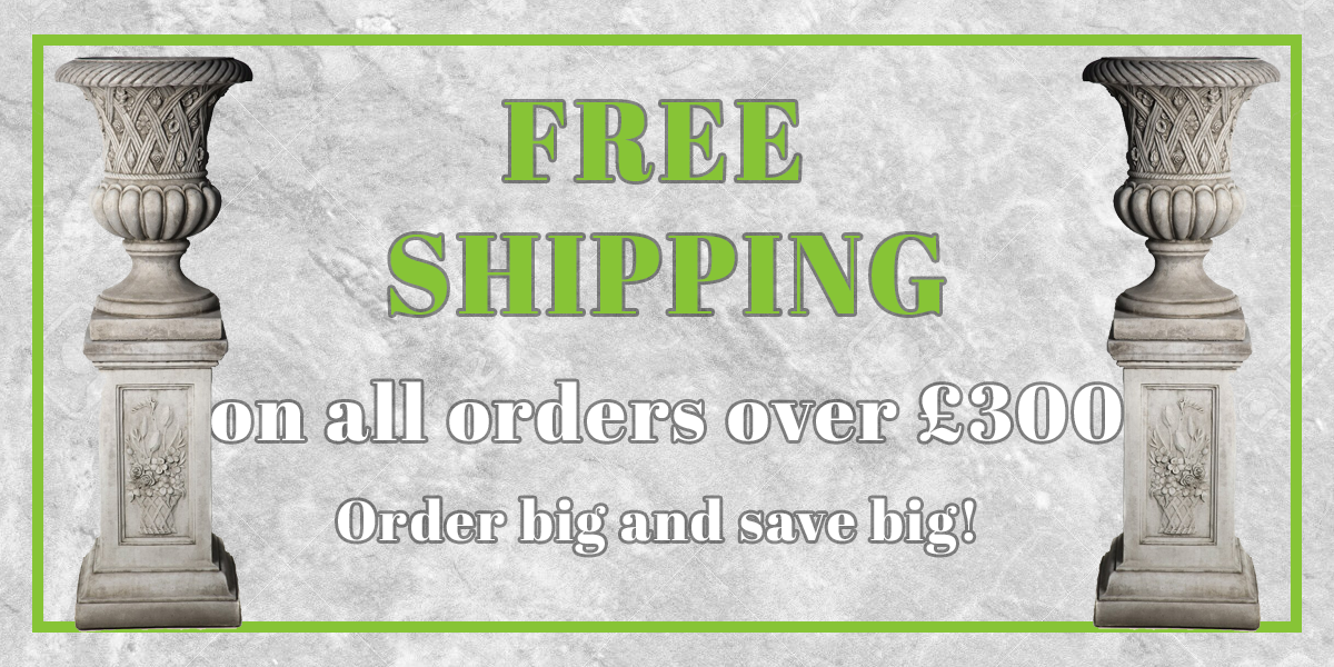 free shipping on orders over £300 at discount garden statues