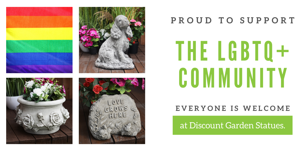 Happy Pride Month from Discount garden statues
