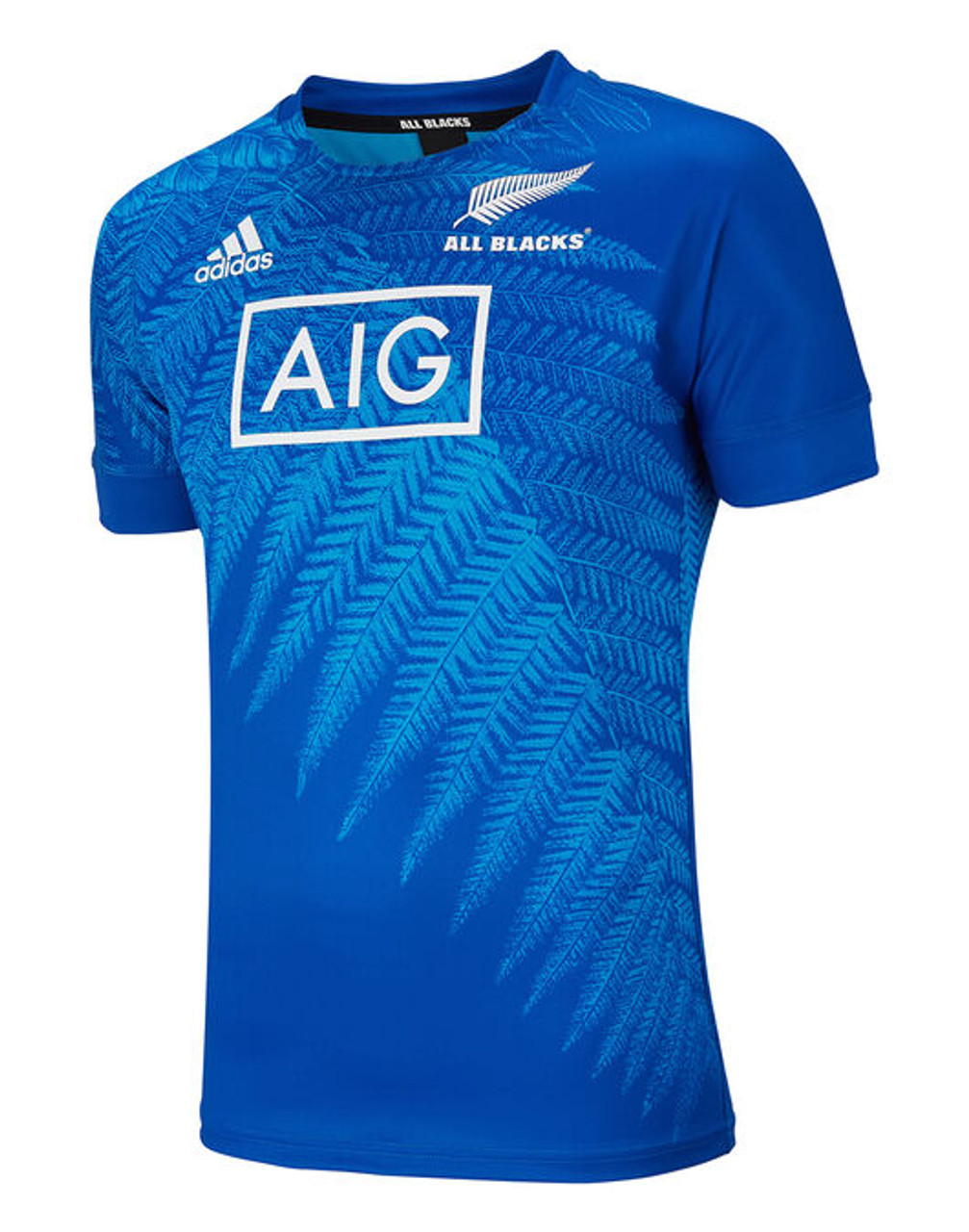 check out f63ca d91e5 Adidas New Zealand All Blacks Rugby World Cup Japan Training Jersey - Blue