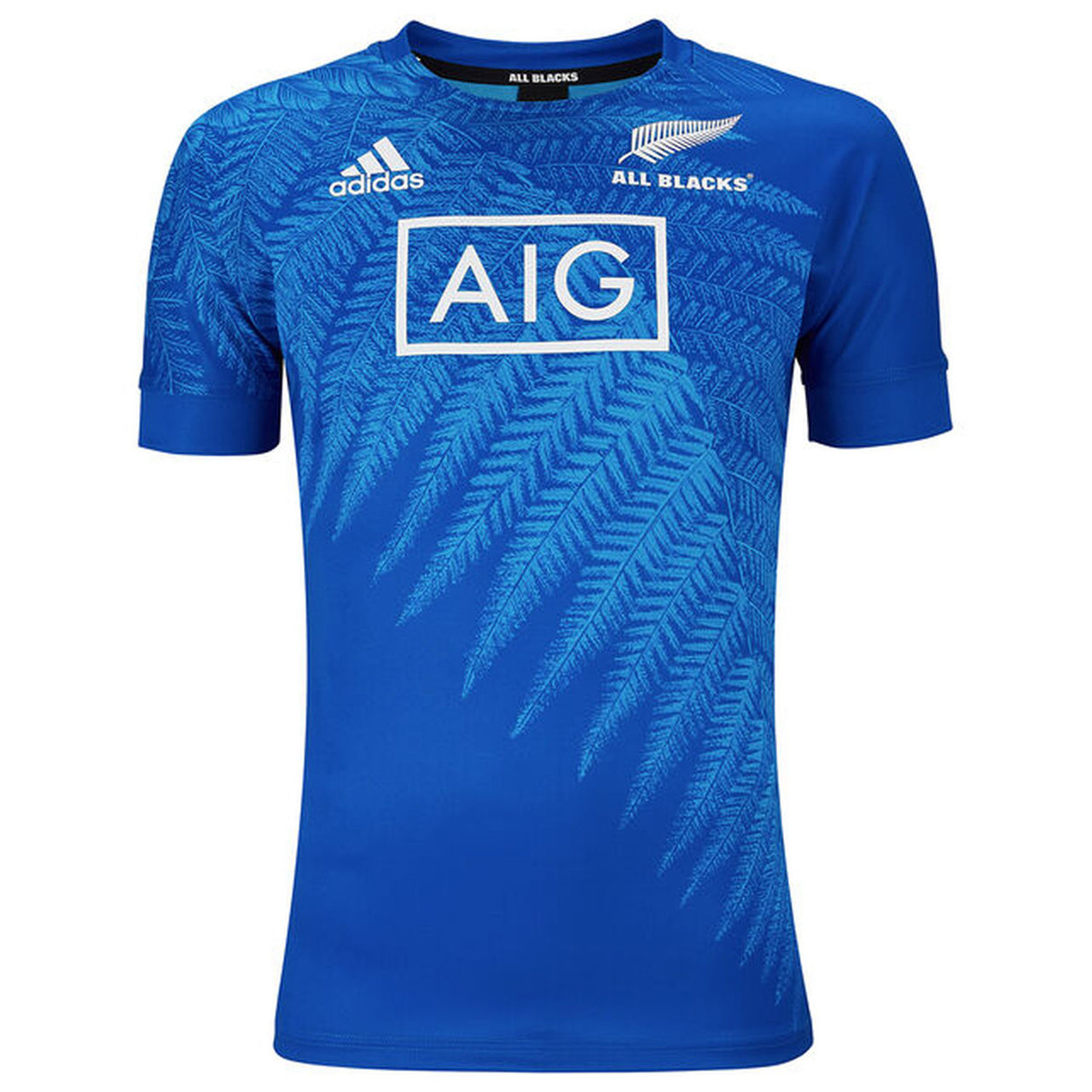 Adidas New Zealand All Blacks Rugby World Cup Japan Training Jersey - Blue