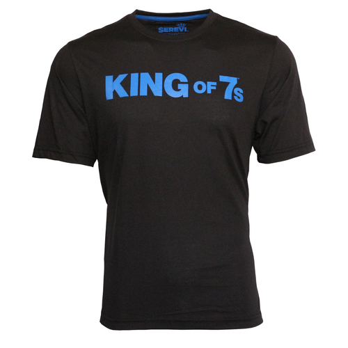 Serevi King of Sevens T-Shirt - Black | Rugby City
