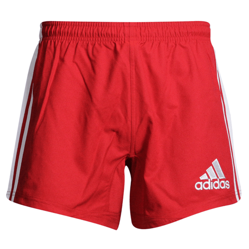 Adidas 3-Stripes Performance Rugby Shorts - Red | Rugby City