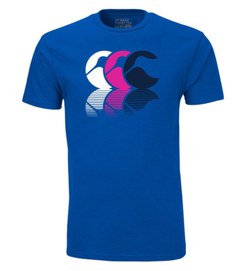 Canterbury Shadow Logo Graphic Tee - Royal | Rugby City