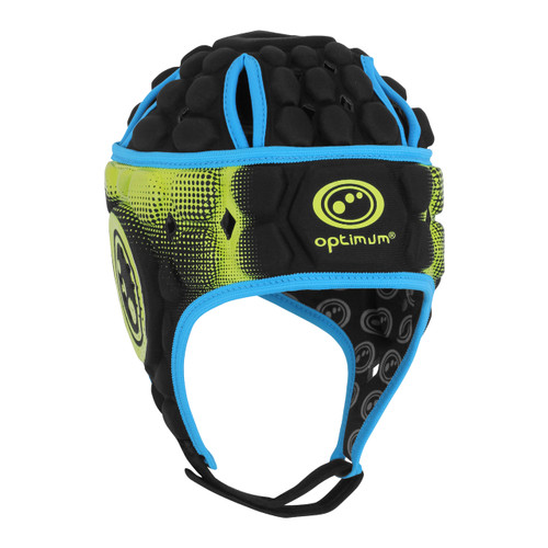 Optimum Atomik Scrum Cap - Black/Blue/Yellow | Rugby City