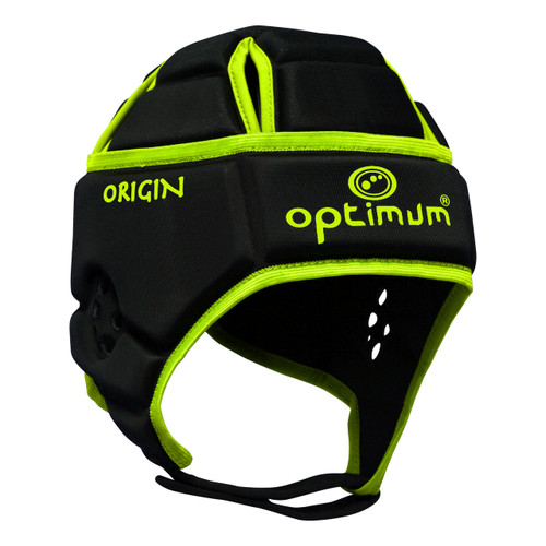 Optimum Origin Hedweb Classic Scrum Cap Black/Fluro | Rugby City