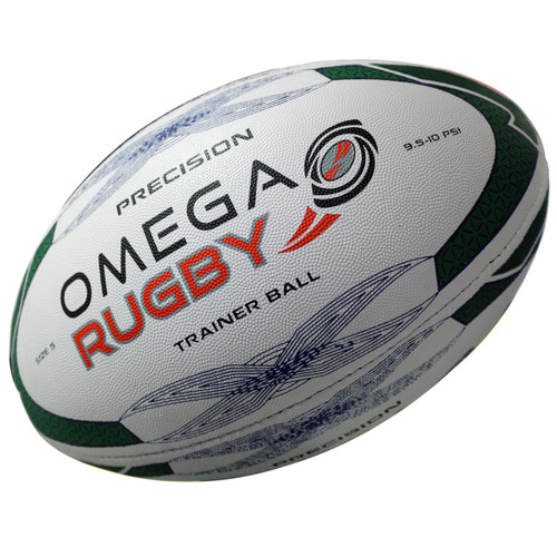 Omega Rugby Precision  High Quality Training Ball - Green/Black/White | Rugby City