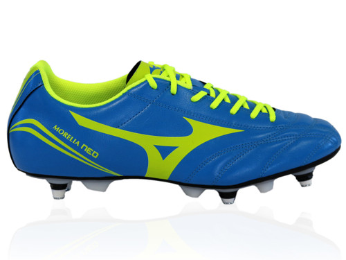 Mizuno Morelia Neo Classic Rugby Boot SG - Blue/Yellow | Rugby City