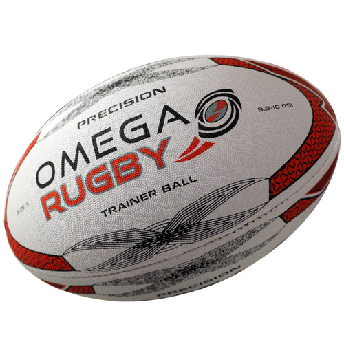 Omega Rugby Precision High Quality Training Ball - Red/Black/White | Rugby City