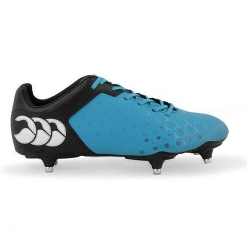 Canterbury Control Club 6 Stud Rugby Boot - Atomic Blue/Black