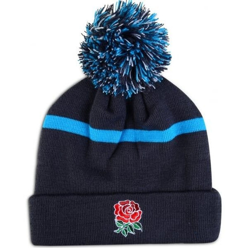 England Striped Bobbled Beanie - Arctic Blue | Rugby City