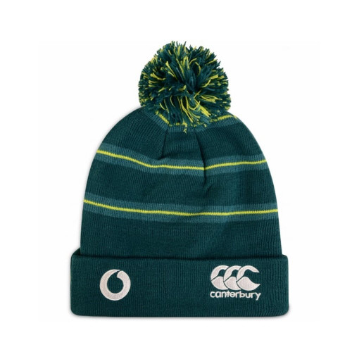 Ireland Striped Bobbled Beanie - Deep Teal | Rugby City