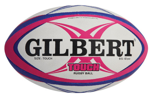 Gilbert Touch Rugby Ball - White/Pink | Rugby City
