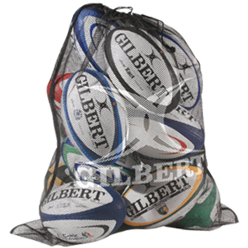 Gilbert Mesh Ball Bag - Black | Rugby City