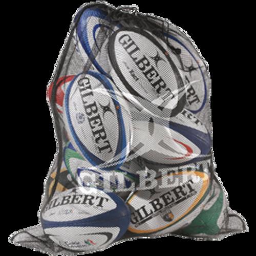 Gilbert Mesh Ball Bag - Black | Rugby City
