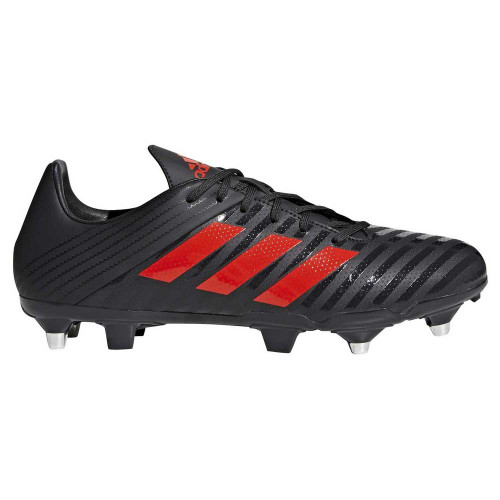 Adidas Malice Control SG Rugby Boots - Black/Red   Rugby City