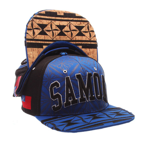 Samoa Adjustable Hat by Zephyr.  Dedicated to the proud people of Polynesia. Authentic tribal art done by Tongan artist Sifa Heimuli of C4DZYNZ.