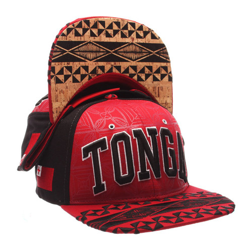 Tonga Adjustable Hat by Zephyr.  Dedicated to the proud people of Polynesia. Authentic tribal art done by Tongan artist Sifa Heimuli of C4DZYNZ.